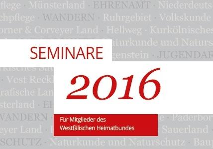 Seminare des Westfälischen Heimatbundes 2016