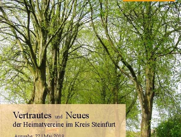 """Mai-Ausgabe 2018 von """"Vertrautes und Neues"""" erschienen"""