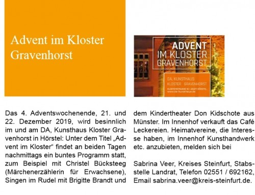 Advent im Kloster Gravenhorst